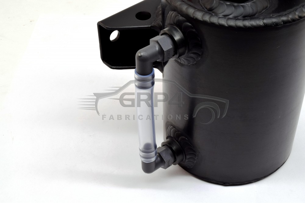 ROUND CATCH TANK 1.5 LITER BLACK ANODIZED Oil Catch Cans and Breathers